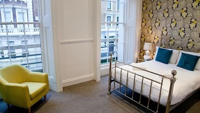 Georgian house hotel bed breakfast for Garden rooms london