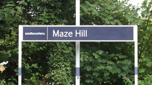 Maze Hill Railway Station Se D 233 Placer Dans Londres