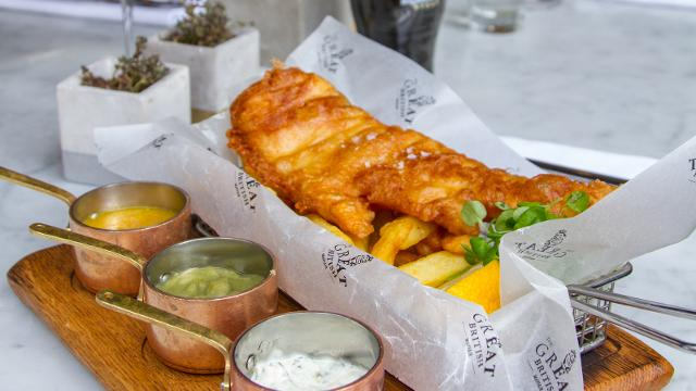 The mayfair chippie food and drink for Best place for fish and chips near me