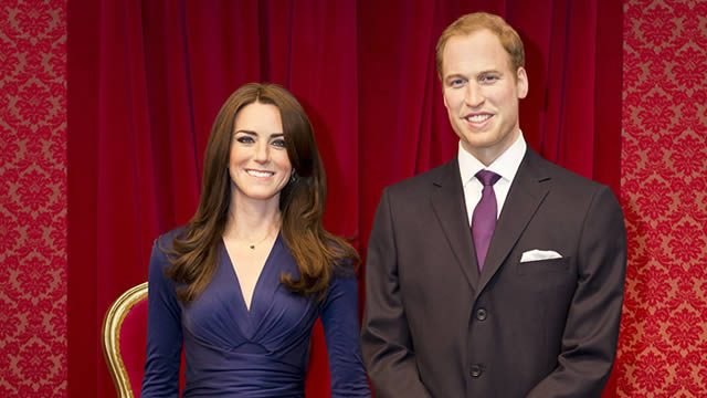 The Duke and Duchess of Cambridge at Madame Tussauds