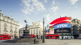 London skyline Piccadilly Circus Eros statue