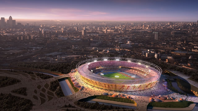 Aerial view of Olympic Park