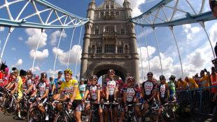 Riders on Tower Bridge