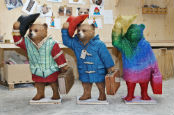 Paddington Bear statues