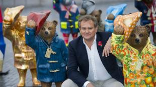 Paddington and Hugh Bonneville at launch NS