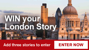 Win your London Story. Add three stories to enter.