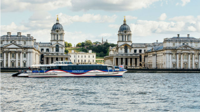 Greenwich by boat - Thames Clipper