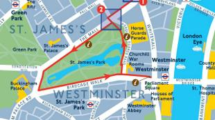 free london guide walking map