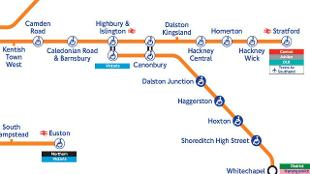 free london guide overground map