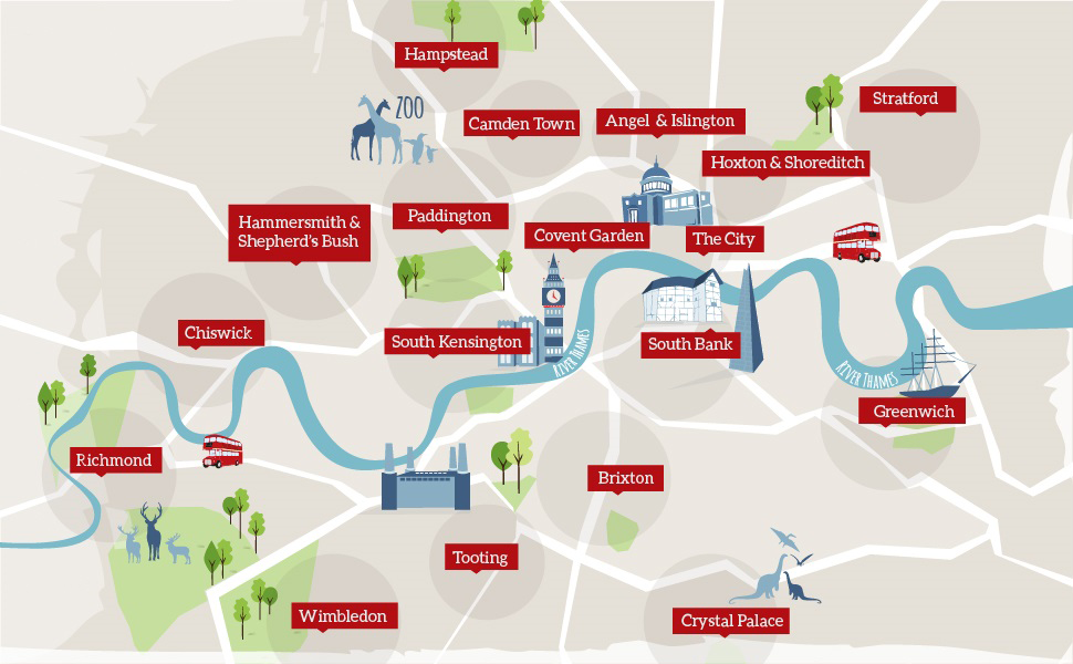 London Areas Map Things To Do visitlondon – Map of Central London Areas