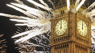 New Year's Eve Fireworks over Big Ben