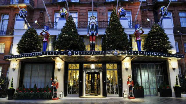 Claridge's at Christmas 2015