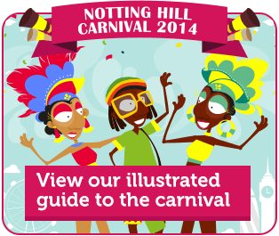 Notting Hill Carnival 2014 - View our illustrated guide to the carnival