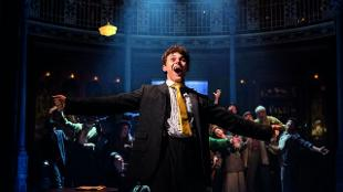Charlie Stemp as Arthur Kipps and Company in Half A Sixpence. Photo: Manuel Harlan