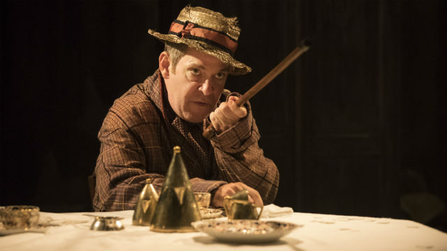 Tom Hollander as Henry Carr in Travesties. Photo: Johan Persson