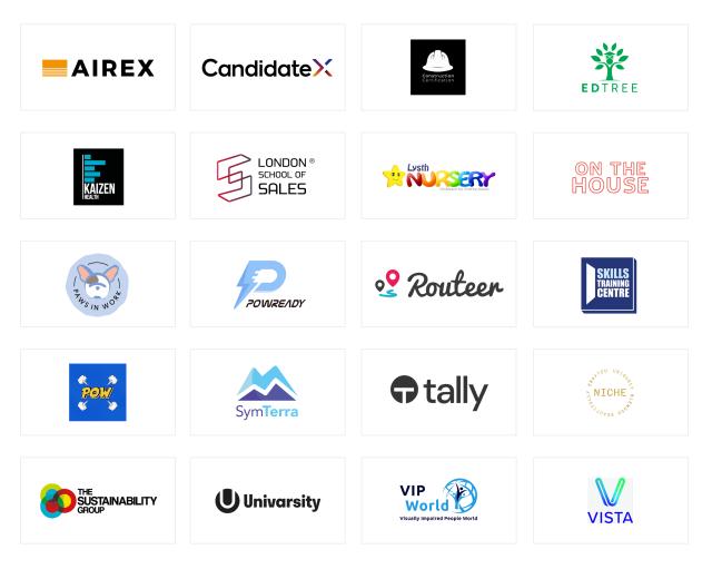Cohort Autumn 14 company logos.