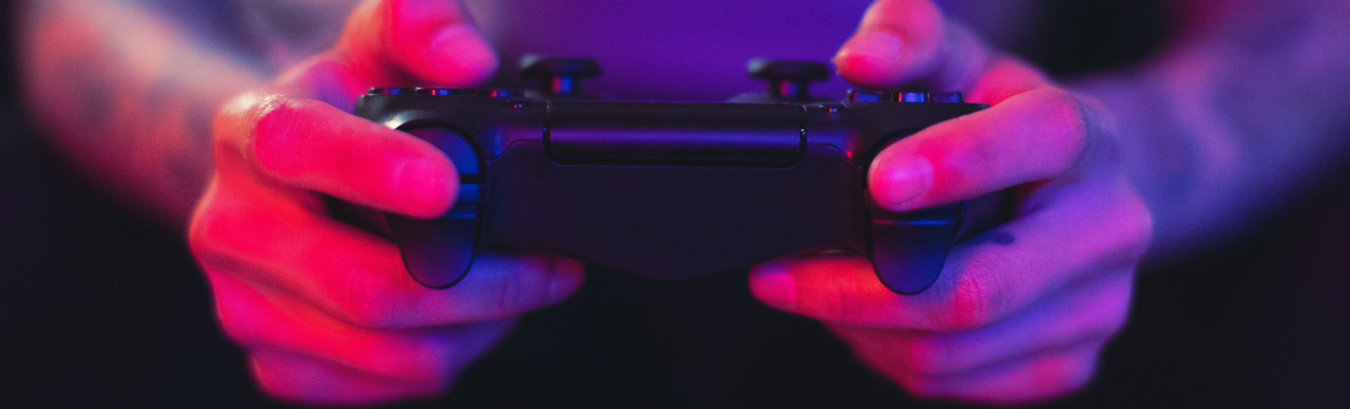 hands with a video game controller