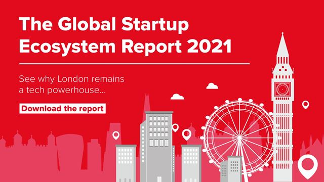 The Global Startup Genome Ecosystem Report 2021 - London infographic.