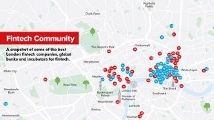 London for fintech map