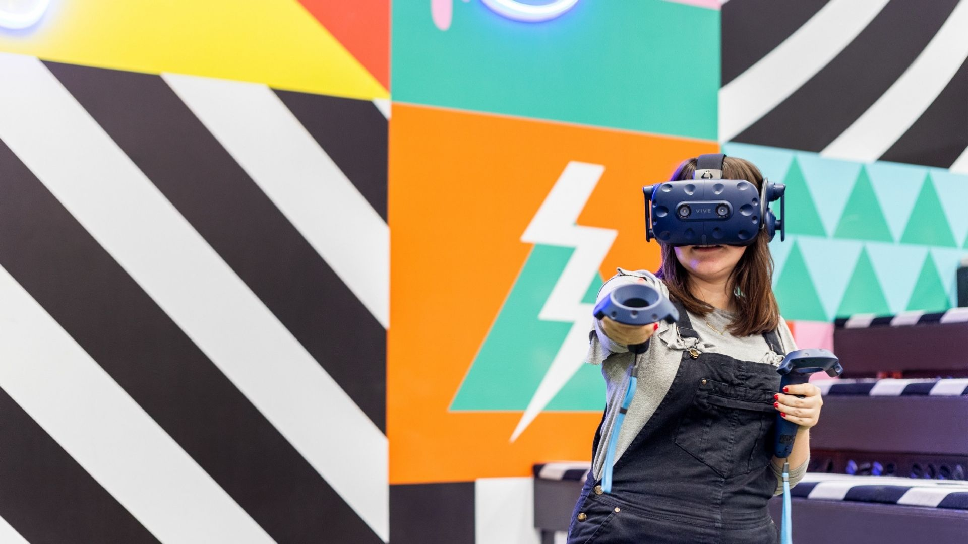 Girl with a VR tool