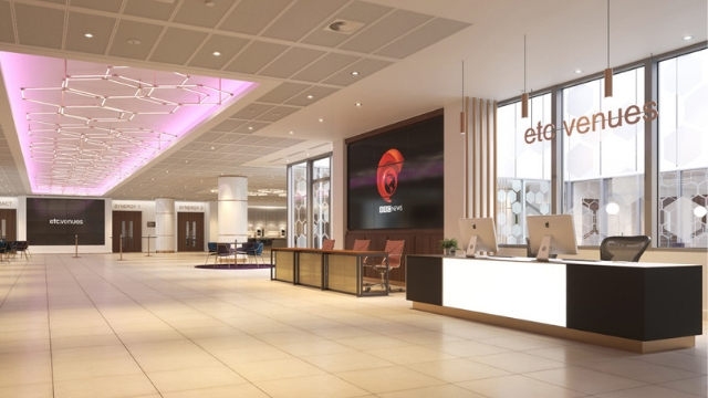 Bright reception hall at etc venues 133 Houndsditch.