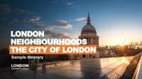 City of London itinerary cover.