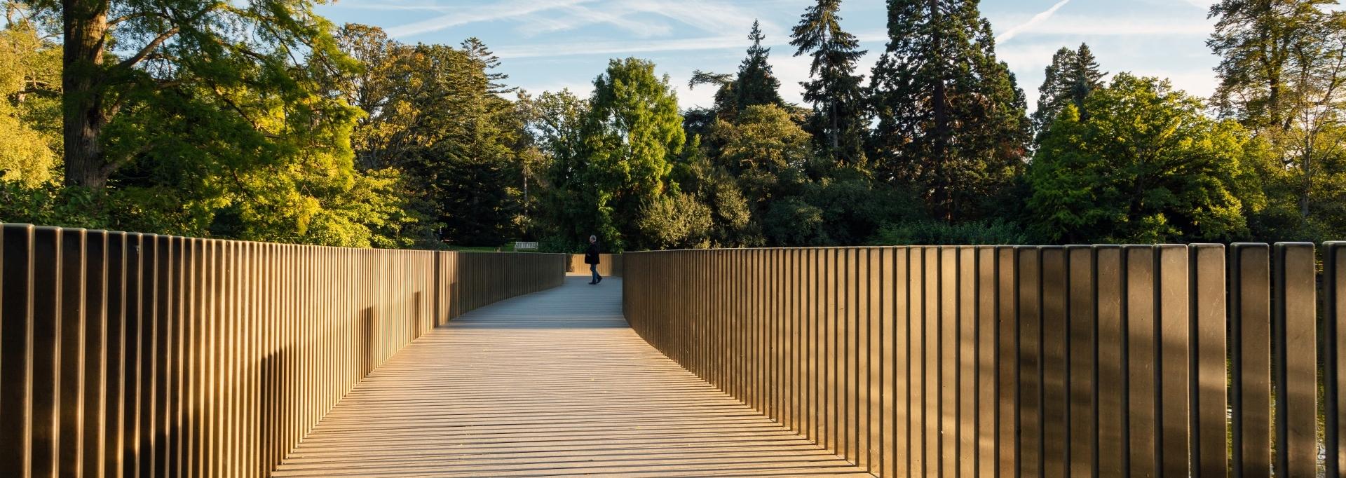 Bridge walkway on a sunny day in Kew
