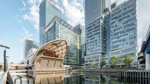 View of the Canary Wharf office complex