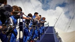 Team climbs up at the O2 dome