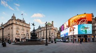Picadilly Circus and its bright advertising screens.