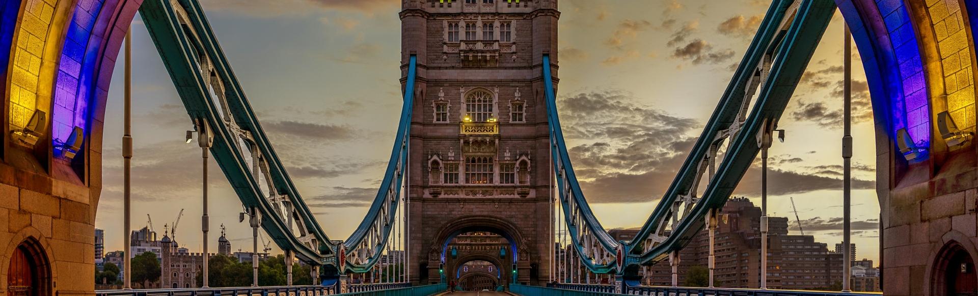 Tower Bridge at sunset time