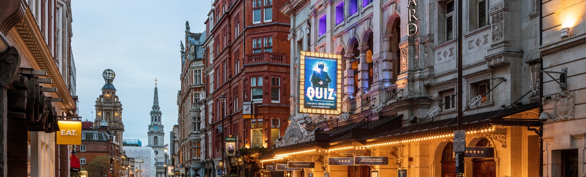 A panoramic view of Theatreland in London