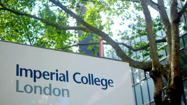 A sign for Imperial College London in front of some trees