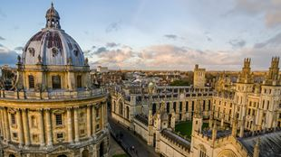 Bodleian Library rooftop at the University of Oxford