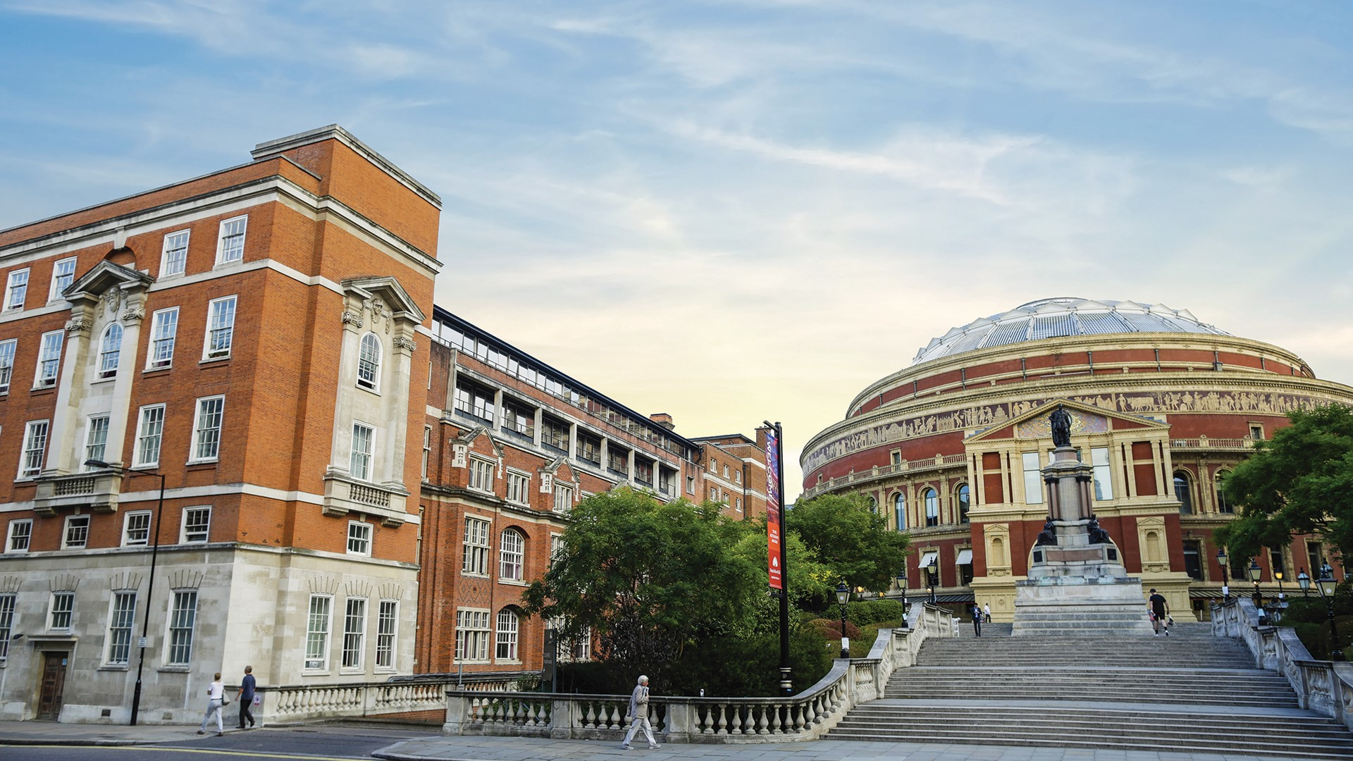 Imperial College's red-brick accommodation near London's Royal Albert Hall.