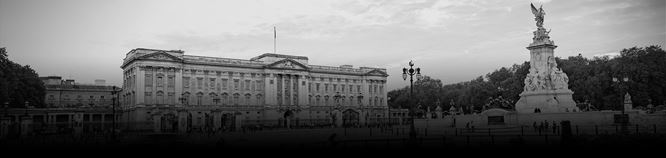 The exterior of Buckingham Palace
