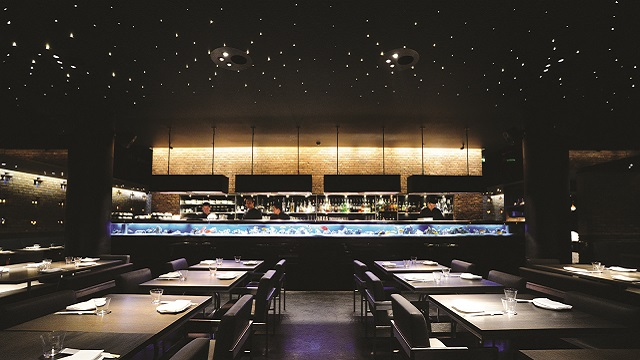 interior of Yauatcha Soho restaurant