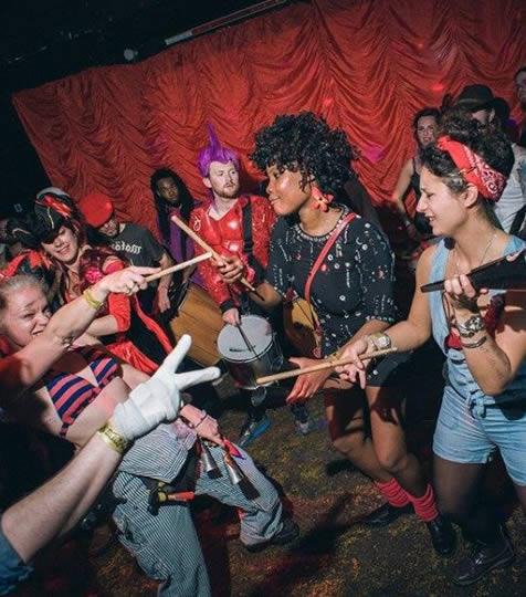 People dancing in a venue in Brixton