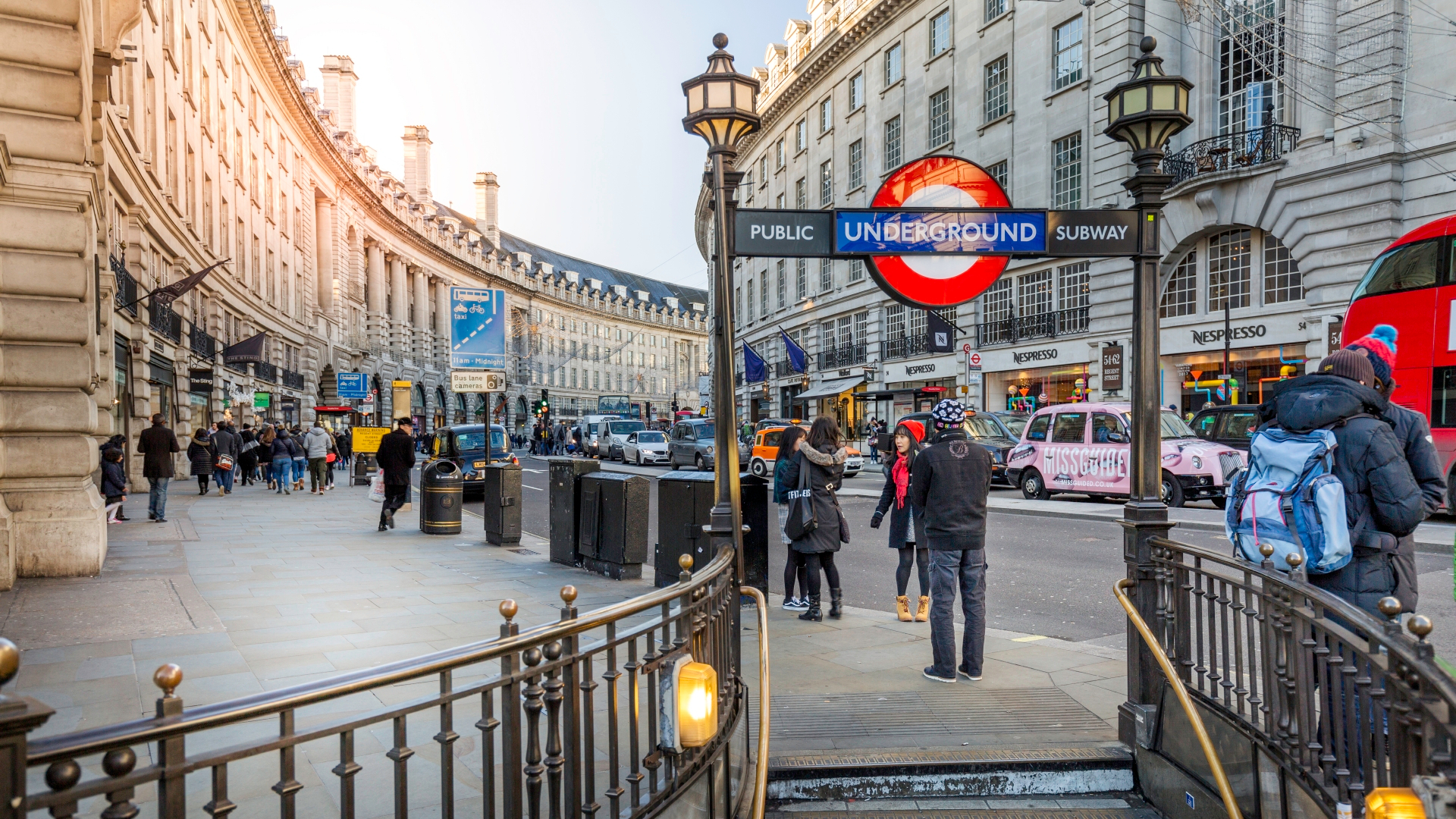 Entrance to Piccadilly Circus tube station.