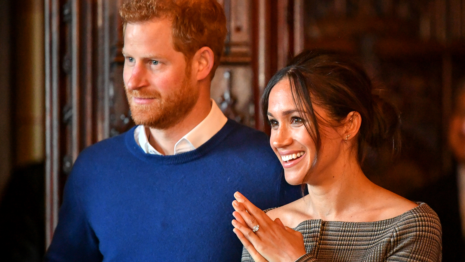 Prince Harry and Meghan Markle at an event.