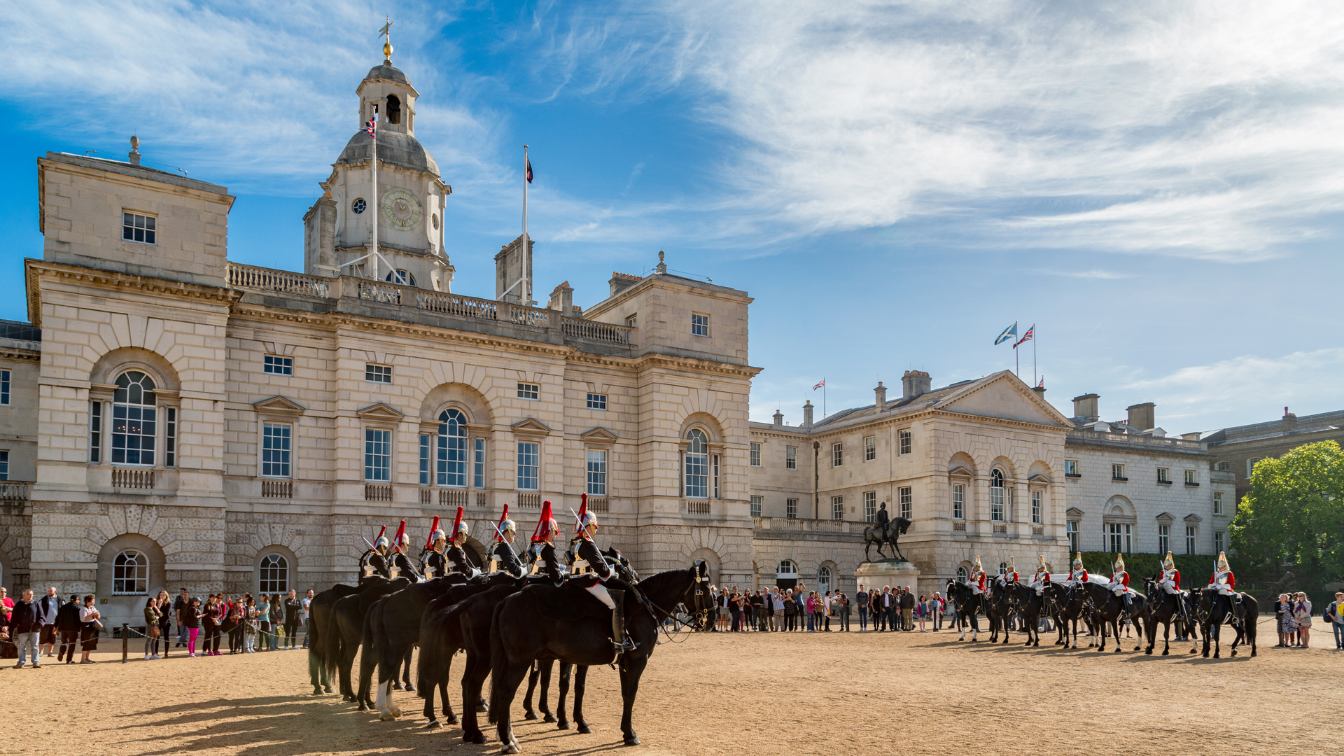 The Household Cavalry on Horse Guards Parade