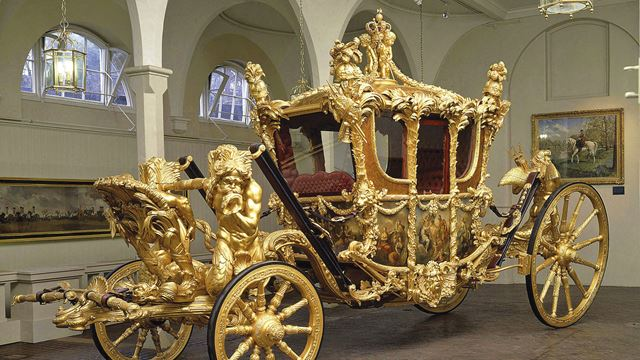 Gold State Coach at the Royal Mews