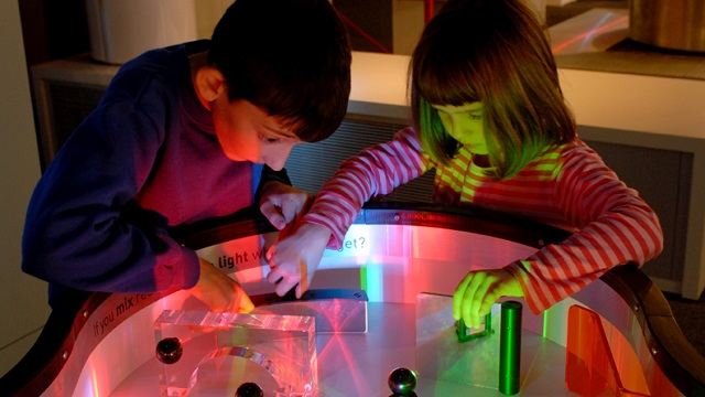children playing at the Science Museum London