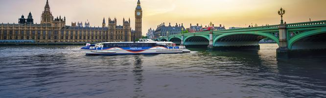 View of Westminster Bridge and the Houses of Parliament
