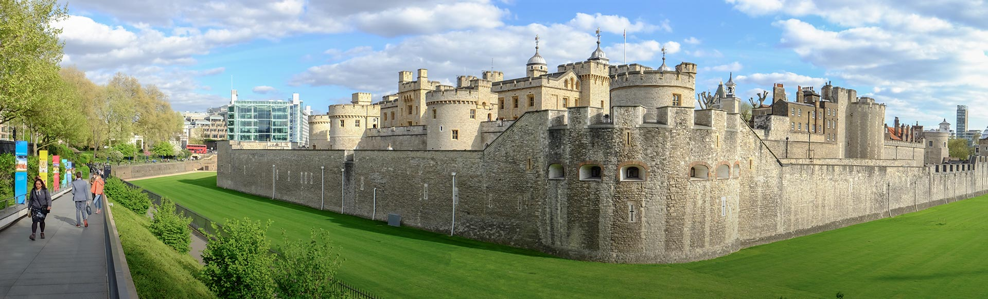A wide-angle view of HM Tower of London. Image courtesy of Shutterstock.