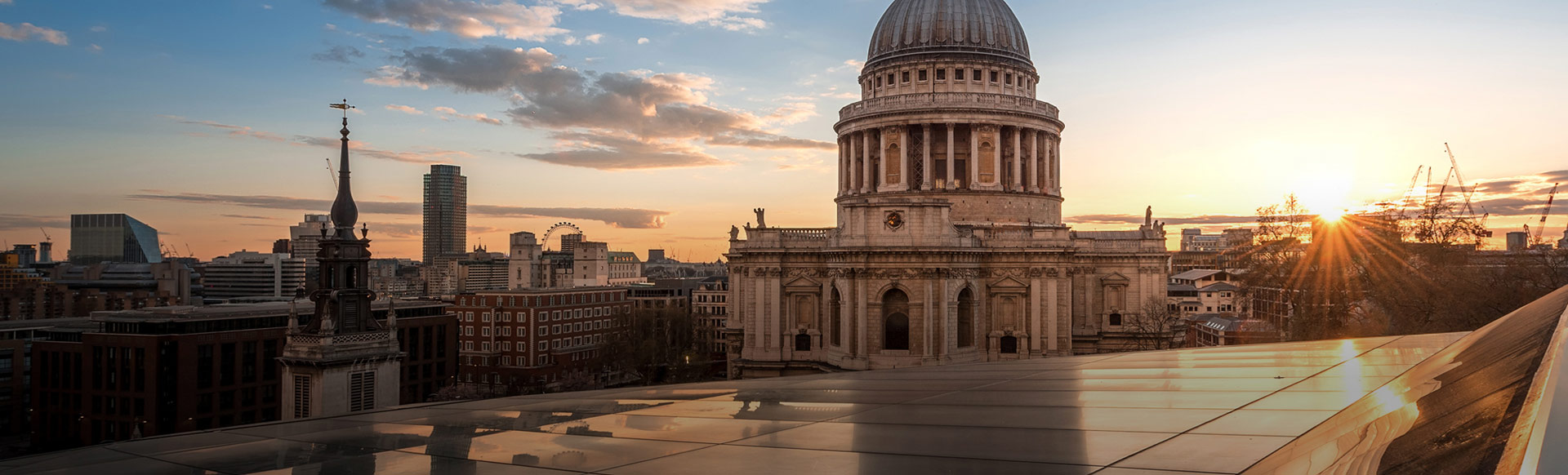 St Paul's Cathedral and London's skyline at sunset. Image courtesy of Shutterstock