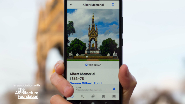 The Albert Memorial guide on the London Architecture guide app.