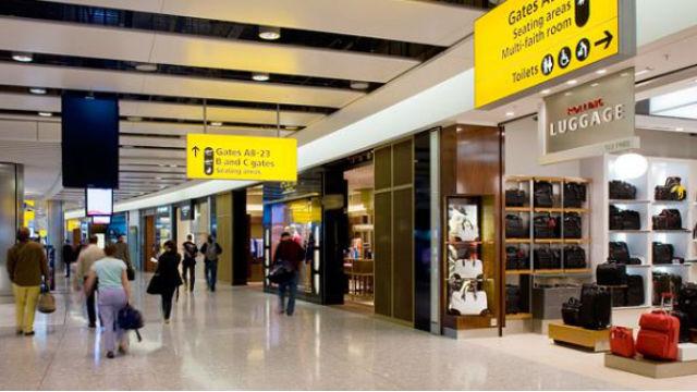 Airport arrivals area