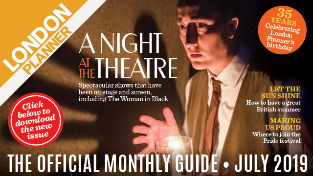 A man in a waistcoat holds a candle. Text overlay reads a night at the theatre.