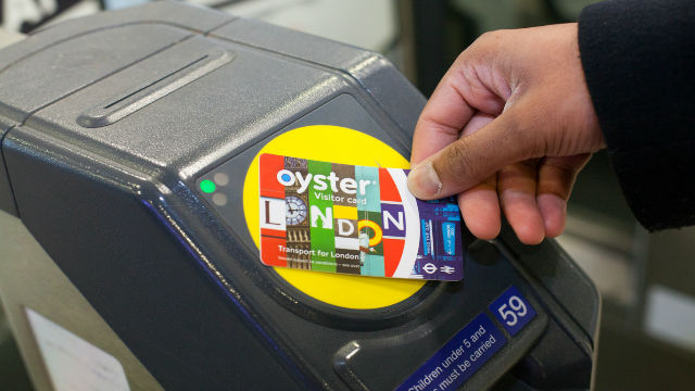 Visitor Oyster Card and Tube gate reader